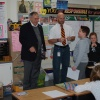 Representative Moylan visits classrooms and facilities at Central School.
