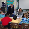 Representative Moylan visits classrooms at Central School.